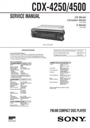 Sony CDX4500 CDX-4500 Service Manual