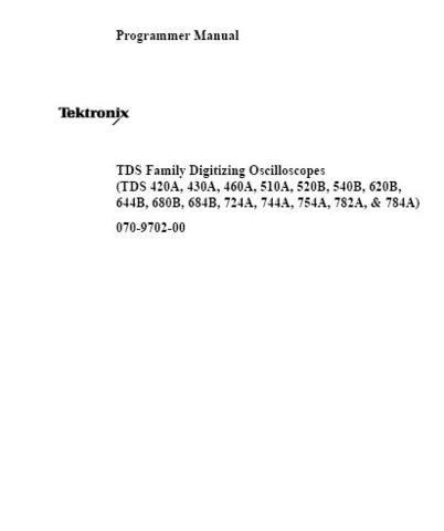 Tektronix tds744a manual.