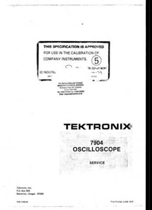 Tektronix 7904 Service Manual
