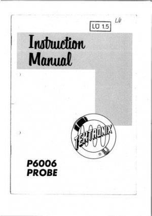 Tektronix P6006 P-6006 Instruction Manual