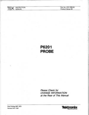 Tektronix P6201 P-6201 Instruction Manual