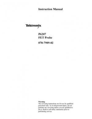 Tektronix P6207 P-6207 Instruction Manual