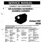 JVC GRAX48EG GR-AX48EG GRAX-48EG Service Manual