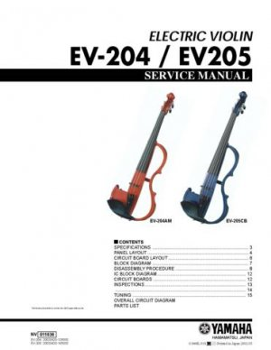 Yamaha EV204 EV-204 Service Manual
