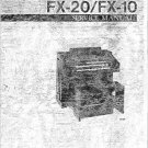 Yamaha FX10 FX-10 Service Manual