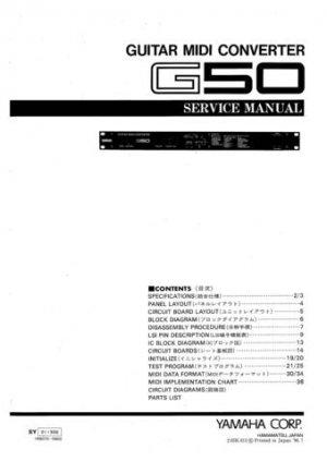 Yamaha G1D G-1D Service Manual