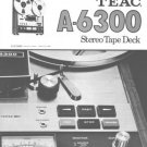 Teac A6300 A-6300 Operating Guide