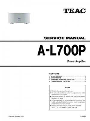 Teac AL700P A-L700P AL-700P Service Manual