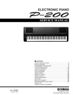 Yamaha P200 P-200 Service Manual