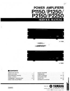 Yamaha P2150 P-2150 Service Manual
