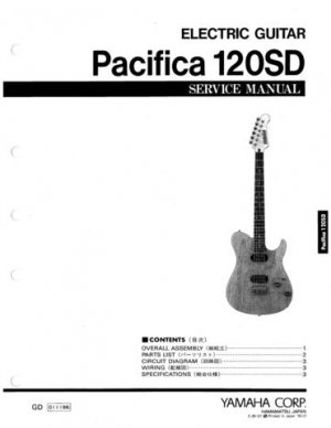Yamaha Pacifica 120SD Service Manual