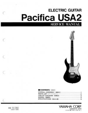 Yamaha Pacifica USA2 USA-2 Service Manual