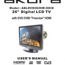 Akura ABLDVD2626W-HDID Television Operating Guide