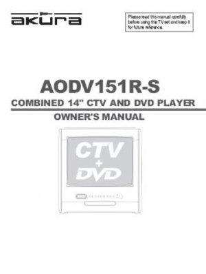 Akura AODV151R-S AODV-151R-S Television Operating Guide