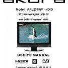 Akura APL2049W-HDID Television Operating Guide