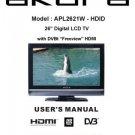 Akura APL2621W-HDID Television Operating Guide