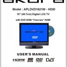 Akura APLDVD1621W-HDID Television Operating Guide