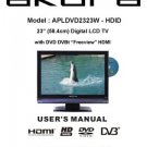Akura APLDVD2323W-HDID Television Operating Guide
