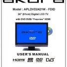 Akura APLDVD2421W-HDID Television Operating Guide