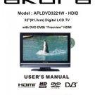 Akura APLDVD3221W-HDID Television Operating Guide