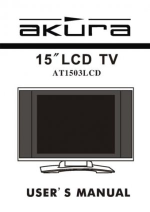 Akura AT1503LCD Television Operating Guide