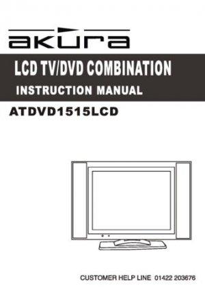 Akura ATDVD1515LCD(1) Television Operating Guide