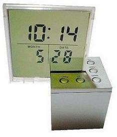 RELOJ LCD CON ALARMA