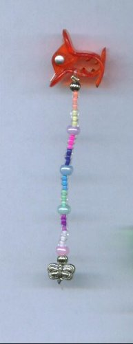 Multi color hand beaded baby size hair clips