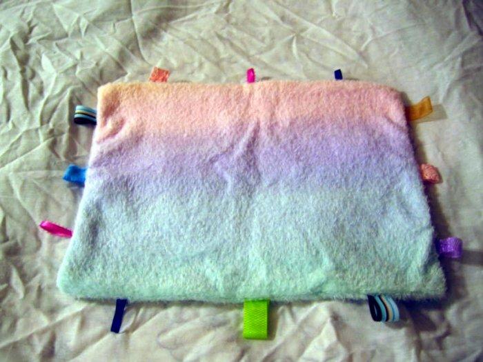 Baby Blanket Taggie Ribbon Tagalong Pastel Blankie