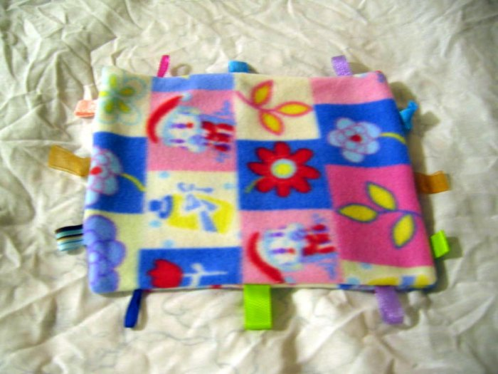Baby Blanket Taggie Ribbon Tagalong Flower  Blankie