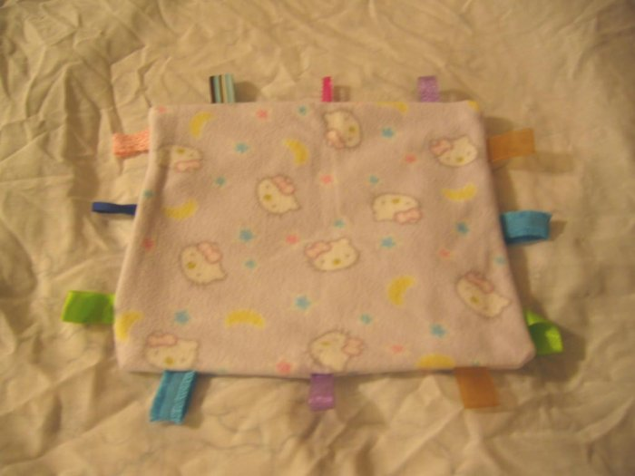 HELLO KITTY Baby Blanket Taggie Ribbon Tagalong  Blankie