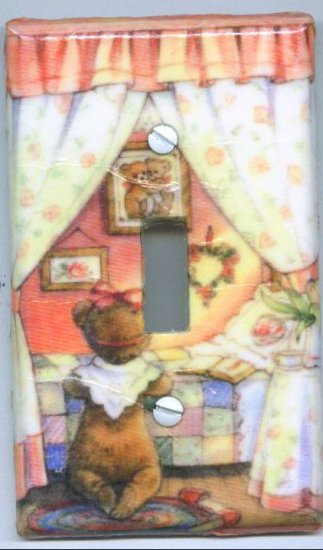 Bear Praying Light Switch Cover