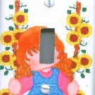 Little Girl Swinging Light Switch Cover