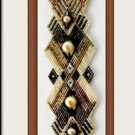 HONEY  Brick Stitch handmade bracelet (Pearls & Gems not included)