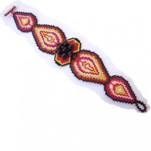 STRAWBERRY FLAMES Handmade Bracelet