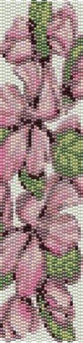 APPLE BLOSSOMS Handmade seed bead bracelet
