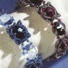 Handmade BLUE OR FUSHSIA RIVOLI SQUARE DANCE Bracelet