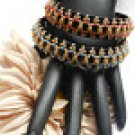 1 Handmade Beaded Black Jack Bangle