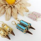 Handmade Beaded Fun and funky Poison Arrow Earrings