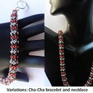Handmade Beaded Cha-Cha Bangle & Necklace