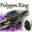 1- Handmade Beaded Polygon Ring