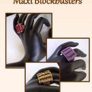1- Handmade Beaded Maxi Blockbuster Ring