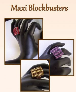 1- Handmade Beaded Maxi Blockbuster Ring