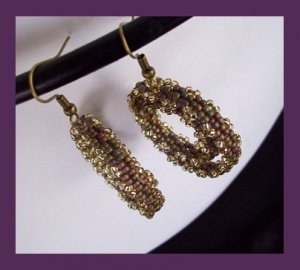 1- Handmade Beaded Turkish Delight Earrings