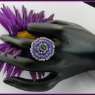 1- Handmade Beaded Hollywood Ring