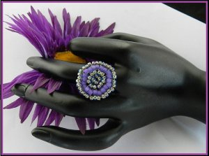 1- Handmade Beaded Hollywood Ring