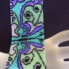 Handmade Exotic Butterflies 2 Peyote Bracelet Cuff
