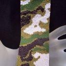 Handmade Camouflage 3 Peyote Bracelet Cuff