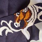 Handmade Horse Design Peyote Cuff Bracelet