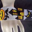 Handmade Halloween 2 Peyote Cuff Bracelet